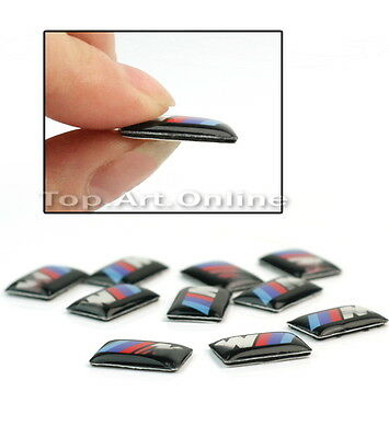 10 x for BMW M tec sport wheel badge m3 m5 m6 emblem sticker 18mm x 10mm 3D logo