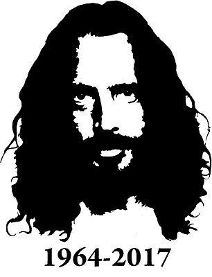 Chris Cornell Rip Soundgarden Vinyl Decal Bumper Sticker Temple Of The Dog