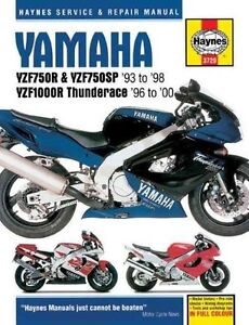 Haynes Yamaha YZF750R & YZF750SP 1993-1998 , YZF000R Thunderace-ExLibrary