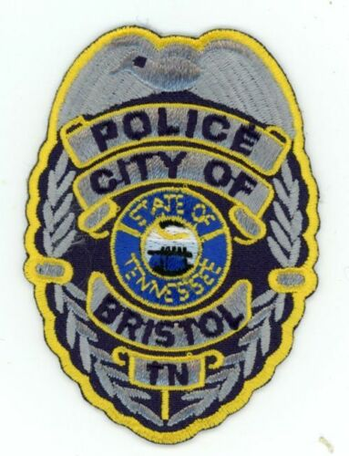 BRISTOL POLICE TENNESSEE TN NICE COLORFUL PATCH SHERIFF 3 INCHES STYLE 1