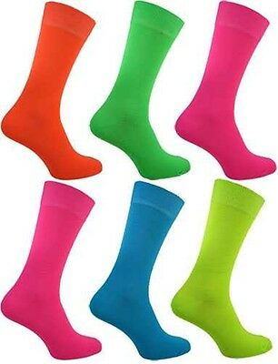 Damen Super Rock And Roll Fluoreszierend Neon Kostüm Party Neon Socken - Rock And Roll Kostüm