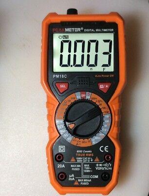 True Rms Digital Multimeter 6000 Counts Vohmhztempfccapdiodema