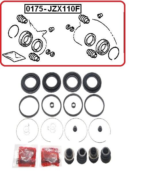 FRONT BRAKE CALIPER REPAIR KIT FOR LEXUS IS200 GS300 GS430 TOYOTA ALTEZZA CROWN