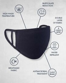 WASHABLE FACE COVERING | Adult | 13+ | Breathable | COLOURS: Navy, Black, Red, Grey