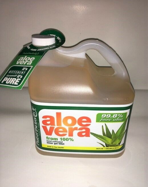 1 gallon 128 oz 99.8% Pure Aloe Vera 100% hand cultivated in