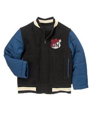 NWT Gymboree London Rocker UK Union Jack Rocker Patch Melton Varsity Jacket 5 6 Varsity Jacke Patches