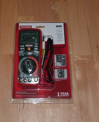 Craftsman Digital Multimeter With Auto Ranging 11-function 34-82334