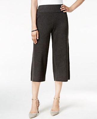 NEW(J019) Alfani Sweater-Knit Culottes Deep Black Sz XS $80