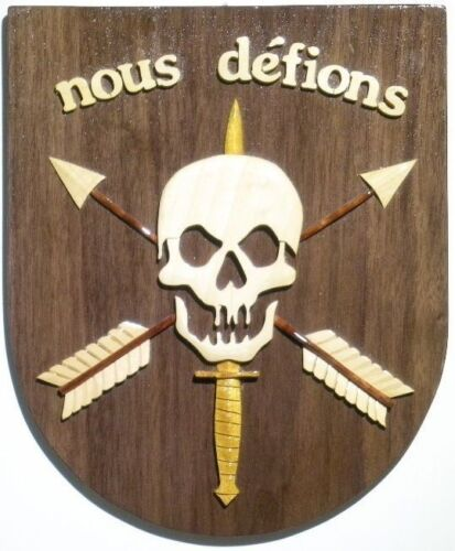 NOUS DEFIONS  SPECIAL FORCES PLAQUE -  Handcrafted Military Wood Art Plaque
