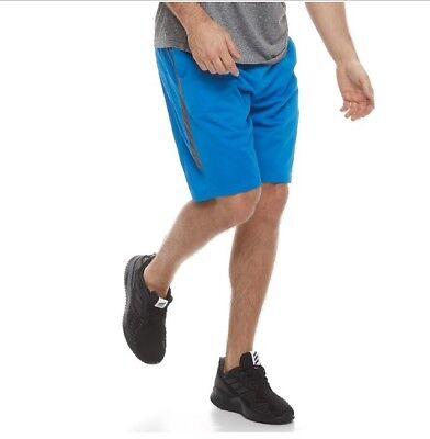Tek Gear Mens Shorts Small S NWT Athletic Training Sports Blue Grey