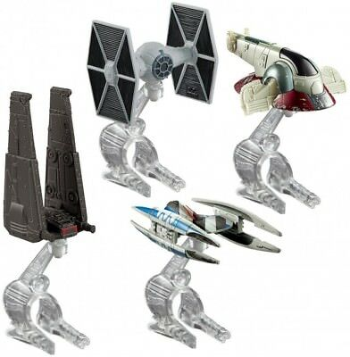 Star Wars Villain Starship 4-Pack Metal Die-cast Spacecraft Hot Wheels NEW