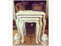 Pretty nest of tables with Queen Anne legs