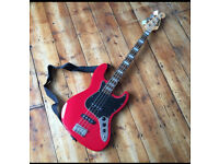 BlueRock Jazz Bass with amp and many extras