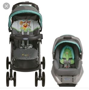 Winnie the Pooh car seat and stroller