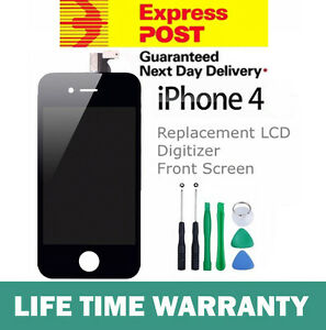 iPhone-4-Replacement-LCD-Digitizer-Front-Screen-Assembly-Panel-Tools-Black