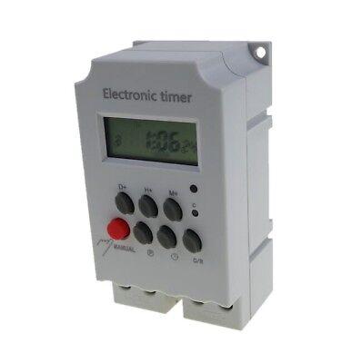 Digital Programmable Electronic Timer Oktimer Kg316t-ii Ac220v 25a Din Rail Lcd