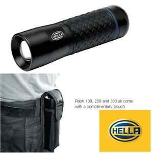 Hella Flash 100 LED torch with belt pouch like small mag torch heavy duty metal