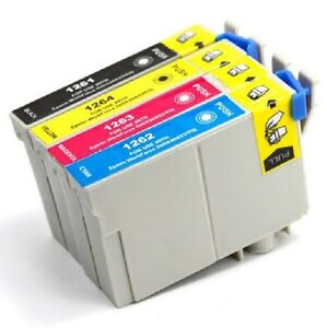 Epson T126 (BK-C-M-Y) Compatible Combo Pack Ink Cartridges - 4 C