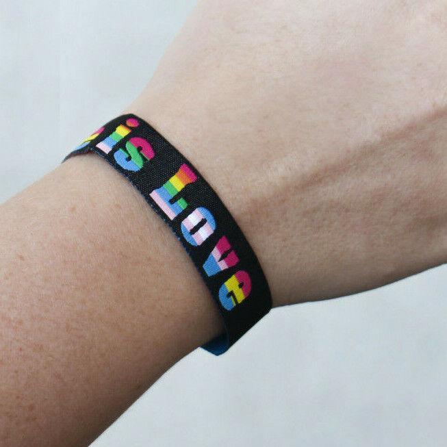 Love is Love lgbtq Festivalband CSD Armband Pride Gay lgbt Bändchen