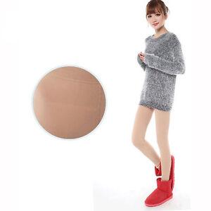 Beige-Women-Fleece-Warm-Thick-Slim-Show-Thin-Leg-Socks-pantyhose-Tights