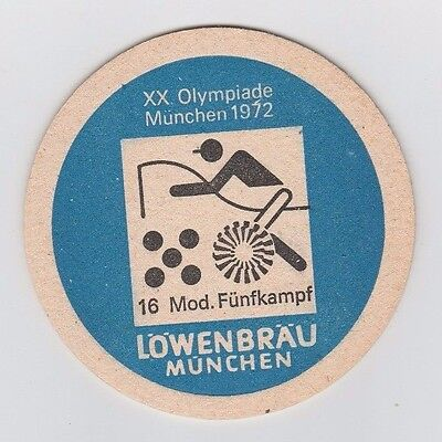 Orig.Bierdeckel   Olympische Spiele MÜNCHEN 1972 - Sonderedition MOD.FÜNFKAMPF !