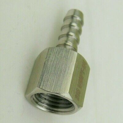 14 Hose Barb To 14 Female Npt 316 Stainless Steel Ss Pipe Fitting Coupler