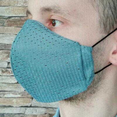 Gr L Coolmax® Mesh Arbeitsmaske 8-Stunden Mundschutz Gesichtsmaske grau schwarz