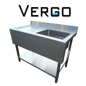 Commercial Catering Sinks : NEW-COMMERCIAL-CATERING-KITCHEN-STAINLESS-STEEL-SINK-1000MM-LEFT-HAND ...
