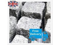 Gray Granite Setts - Cobbles - EU Sourced! Free Delivery