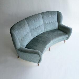 Divano curvo tre posti anni 50, 50s sofa, Fauteuil, vintage, Ico ...