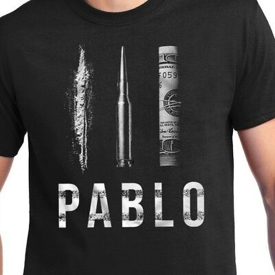 Pablo Escobar Dollar Cocaine Bullet T Shirt   Narcos Colombia Cartel Tee New