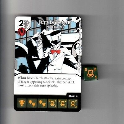 DICE MASTERS DC BATMAN COMMON CARD & DIE #20 JERVIS TECTH MAD HATTER