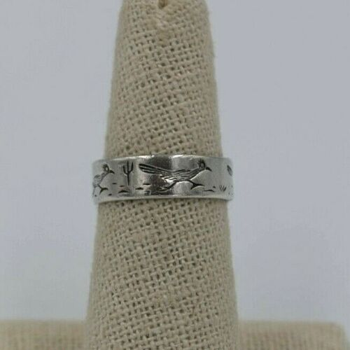 Bell Trading Sterling Road Runner Band Ring Size 6.75