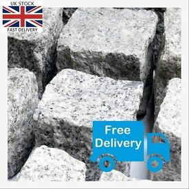 Gray Granite Setts - Cobbles - EU Sourced! Free Delivery
