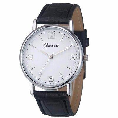 Kyпить Luxury Geneva Silver White Black Leather Water Men's Quartz Dress Fashion Watch на еВаy.соm
