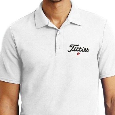 Titties Golf Shirt PGA Bachelor party Gift - Embroidered