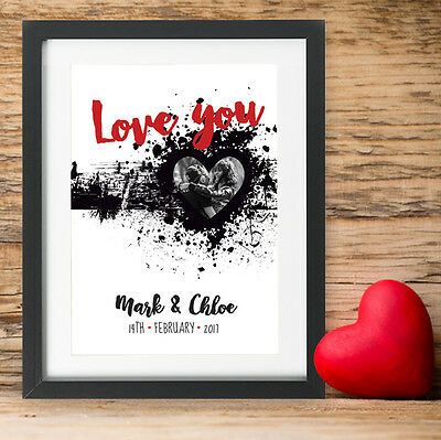 Personalised Valentines Day Gift Present I Love You Photo Wedding For Her Him ()
