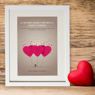 Personalised Valentines Gift Day Present Love Message Her For Him Husband Wife ()