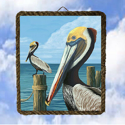Tropical Beach Pelican 56 Ocean Beach Wall Decor Art Coastal lalarry - Ocean Wall Decor
