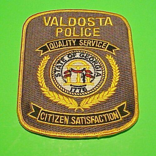 VALDOSTA GEORGIA 1776 GA QUALITY SERVICE / CITIZEN SATISFACTION  POLICE PATCH!!!