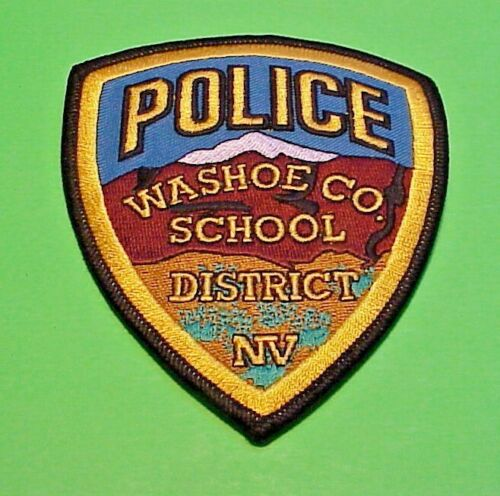 """WASHOE CO. SCHOOL DISTRICT  NEVADA  NV  POLICE PATCH  4 1/2""""   FREE SHIPPING!"""