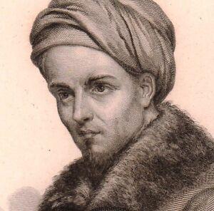 Portrait XIXe Jean Althen Arménie Hovhannès Althounian Agronomie Garance Armenia - France - Portrait de Jean Althen gravure exécutée en 1836 Dimensions 23x14 centimtres. Ce document est un original du XIXe sicle Jean Althen, de son vrai nom Hovhanns Althounian, (1710-1774) fut un agronome franais d'origine arménienne.Fils d'un gouver - France