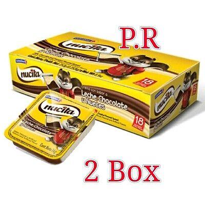 2 Box Nucita Milk, Chocolate and Hazelnut Flavored Spread 18 unidad ()