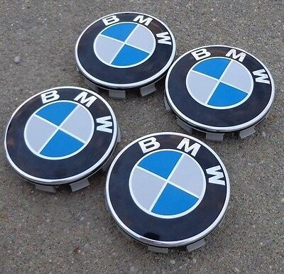 "BMW center cap caps Set 4 wheel rim insert cover hub 2.75"" 2-3/4"" 68mm 68 mm"