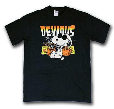 Mens Peanuts Snoopy Devious Halloween Trick-Or-Treat Shirt New M, L](Snoopy Halloween Shirt)