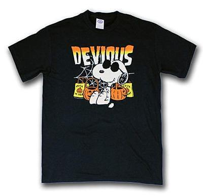 Mens Peanuts Snoopy Devious Halloween Trick-Or-Treat Shirt New M, L](Peanuts Halloween Shirt)