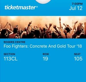 Foo Fighters in Toronto 12 July!!! 2 tickets for 700!!!