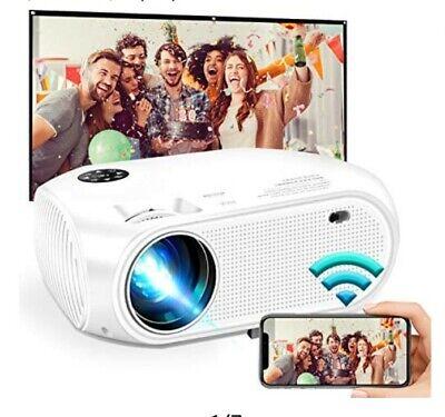 Weiliante Portable Projector - White- Remote Control