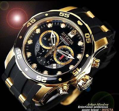 Invicta Men's Scuba Master Of The Ocean Chronograph 18K Gold IP Luxury Watch