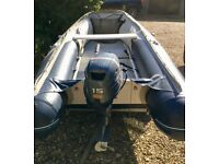 Honda Inflatable 3.5m Boat with Yamaha 15HP Outboard Motor